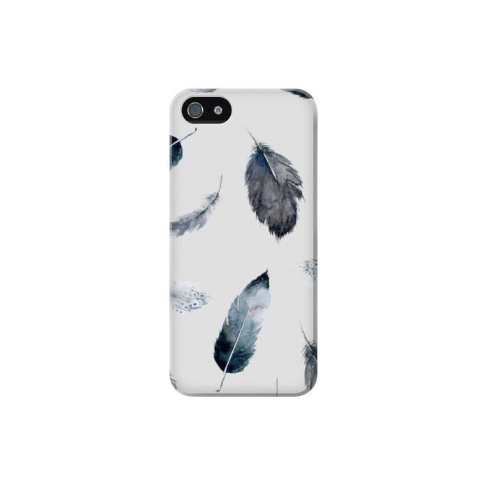 Printed Feather Paint Pattern Iphone 5C Case