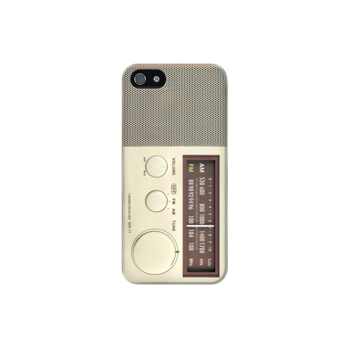 Printed FM AM Wooden Receiver Graphic Iphone 5C Case