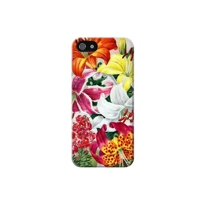 Printed Retro Art Flowers Iphone 5C Case