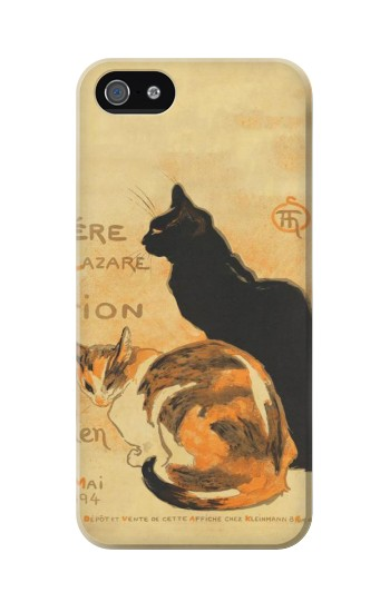 Printed Vintage Cat Poster Iphone 5C Case