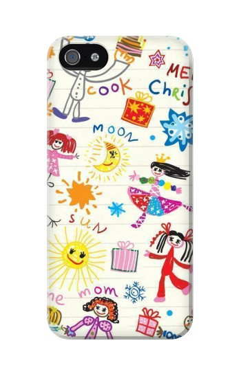 Printed Kids Drawing Iphone 5C Case