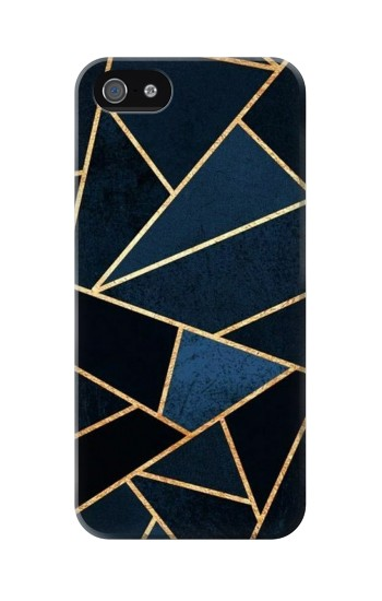 Printed Navy Blue Graphic Art Iphone 5C Case