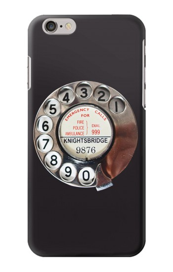 Printed Retro Rotary Phone Dial On Iphone 6 plus Case