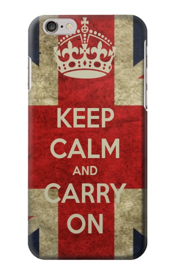 Printed Keep Calm and Carry On Iphone 6 plus Case