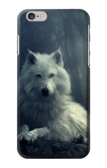 Printed White Wolf Iphone 6 plus Case