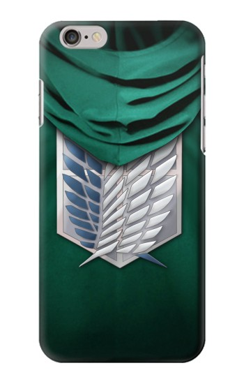 Printed Attack on Titan Scouting Legion Rivaille Green Cloak Iphone 6 plus Case
