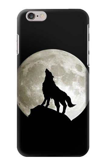 Printed Wolf Howling at The Moon Iphone 6 plus Case