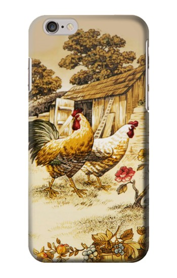 Printed French Country Chicken Iphone 6 plus Case