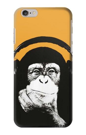 Printed Funny Monkey with Headphone Pop Music Iphone 6 plus Case