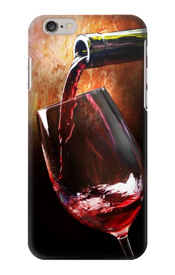 Printed Red Wine Bottle And Glass Iphone 6 plus Case