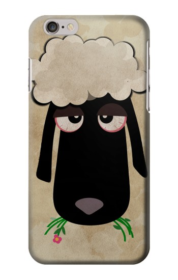 Printed Cute Cartoon Unsleep Black Sheep Iphone 6 plus Case