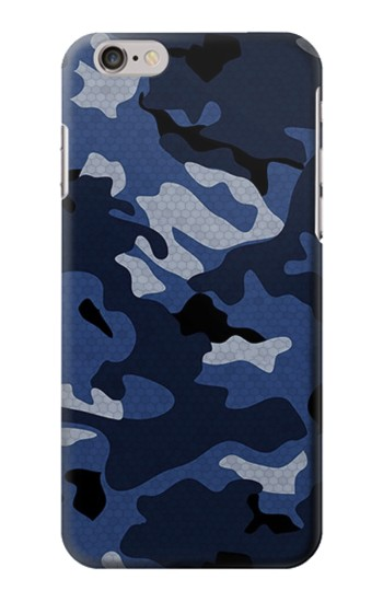 Printed Navy Blue Camouflage Iphone 6 plus Case