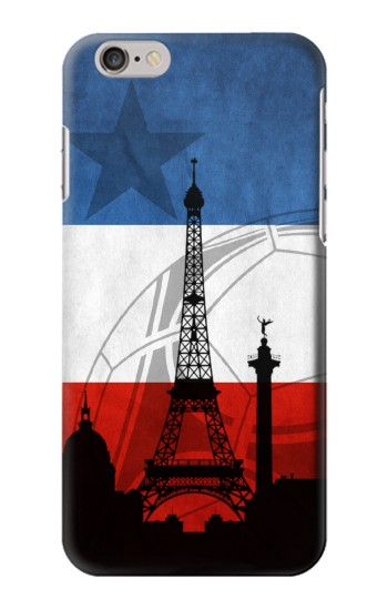 Printed France Football Flag Iphone 6 plus Case