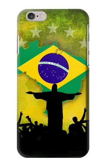 Printed Brazil Football Flag Iphone 6 plus Case