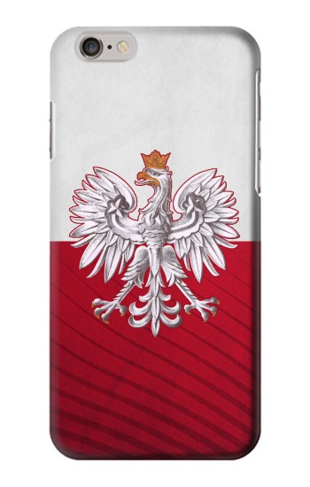 Printed Poland Football Flag Iphone 6 plus Case