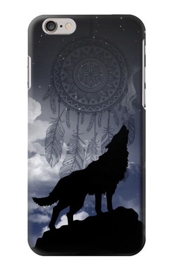 Printed Dream Catcher Wolf Howling Iphone 6 plus Case