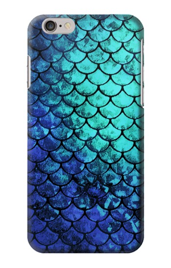 Printed Green Mermaid Fish Scale Iphone 6 plus Case