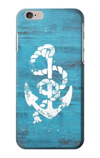 Printed Marine Anchor Blue Wooden Iphone 6 plus Case