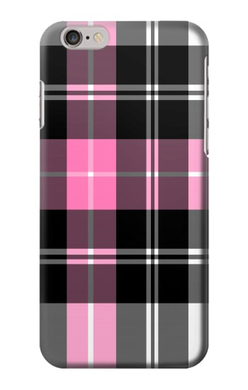 Printed Pink Plaid Pattern Iphone 6 plus Case