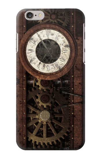 Printed Steampunk Clock Gears Iphone 6 plus Case