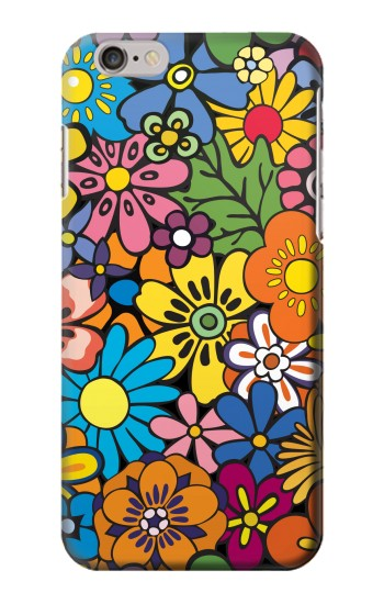 Printed Colorful Flowers Pattern Iphone 6 plus Case