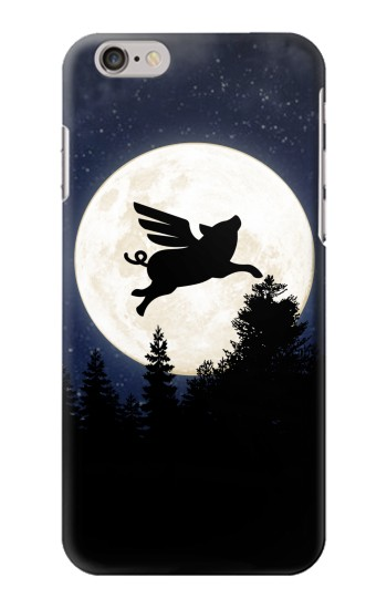 Printed Flying Pig Full Moon Night Iphone 6 plus Case