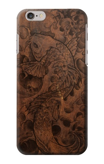 Printed Fish Tattoo Leather Graphic Print Iphone 6 plus Case