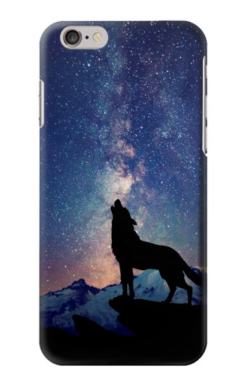 Printed Wolf Howling Million Star Iphone 6 plus Case