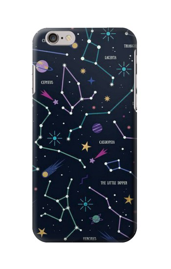 Printed Star Map Zodiac Constellations Iphone 6s Case