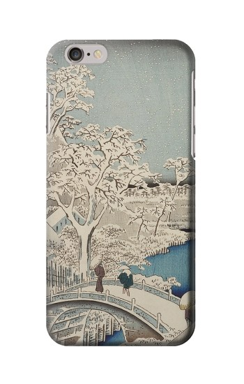 Printed Utagawa Hiroshige The Drum Bridge at Yuhi Hill in Meguro Iphone 6s Case