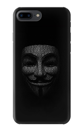 Printed Anonymous mask Iphone 7 plus Case