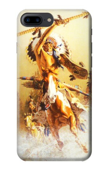 Printed Red Indian Warrior Iphone 7 plus Case
