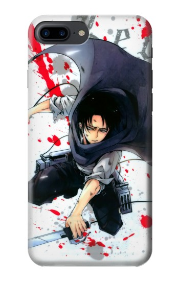 Printed Attack on Titan Rivaille Levi Iphone 7 plus Case