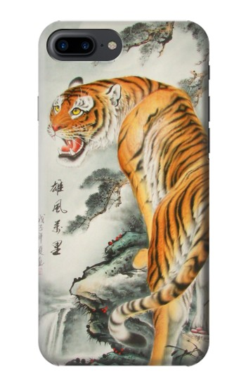 Printed Chinese Tiger Painting Iphone 7 plus Case