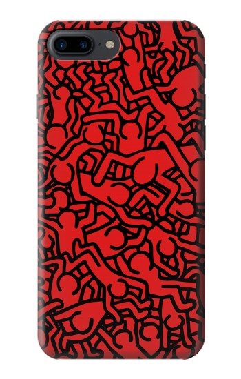 Printed Keith Haring Red Iphone 7 plus Case