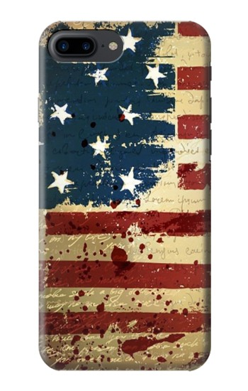 Printed Old American Flag Iphone 7 plus Case