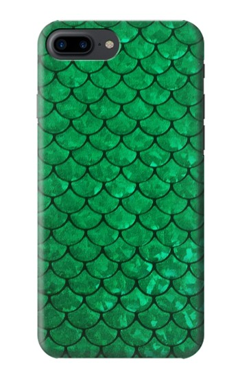 Printed Green Fish Scale Pattern Iphone 7 plus Case