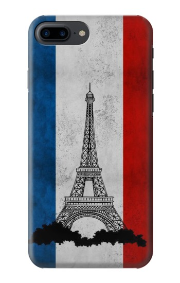 Printed Vintage France Flag Eiffel Tower Iphone 7 plus Case