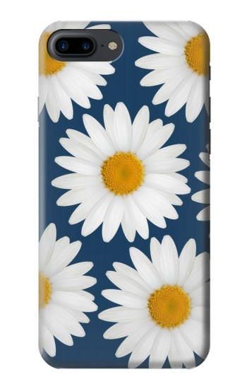 Printed Daisy Blue Iphone 7 plus Case