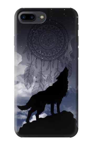 Printed Dream Catcher Wolf Howling Iphone 7 plus Case