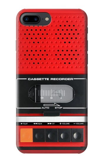 Printed Red Cassette Recorder Graphic Iphone 7 plus Case
