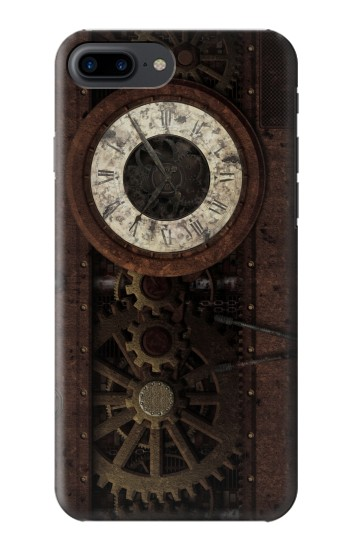 Printed Steampunk Clock Gears Iphone 7 plus Case