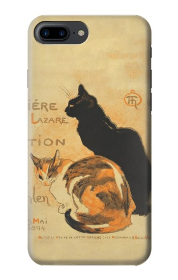Printed Vintage Cat Poster Iphone 7 plus Case