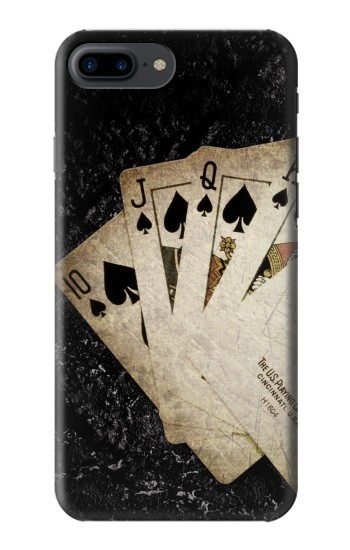 Printed Vintage Royal Straight Flush Cards Iphone 7 plus Case