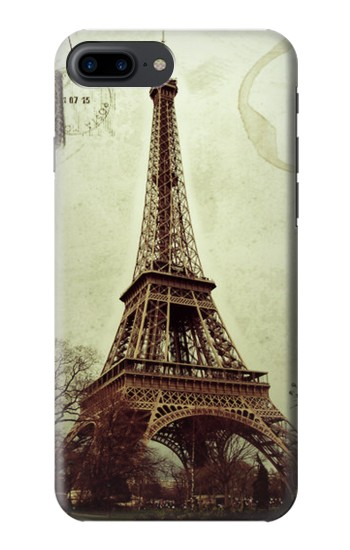 Printed Vintage Tour Eiffel Postcard Iphone 7 plus Case