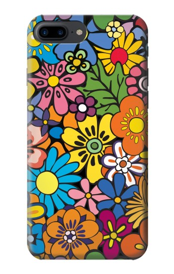 Printed Colorful Flowers Pattern Iphone 7 plus Case