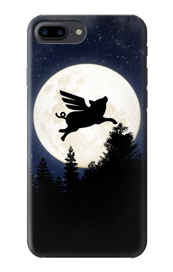 Printed Flying Pig Full Moon Night Iphone 7 plus Case