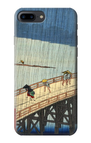 Printed Utagawa Hiroshige Sudden shower over Shin Oashi bridge and Atake Iphone 7 plus Case