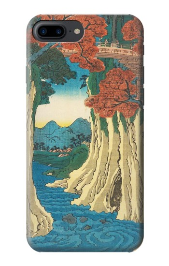 Printed Utagawa Hiroshige The Monkey Bridge in Kai Province Iphone 7 plus Case