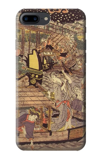 Printed Utagawa Kuniyasu Fireworks at Ryogoku Bridge Iphone 7 plus Case